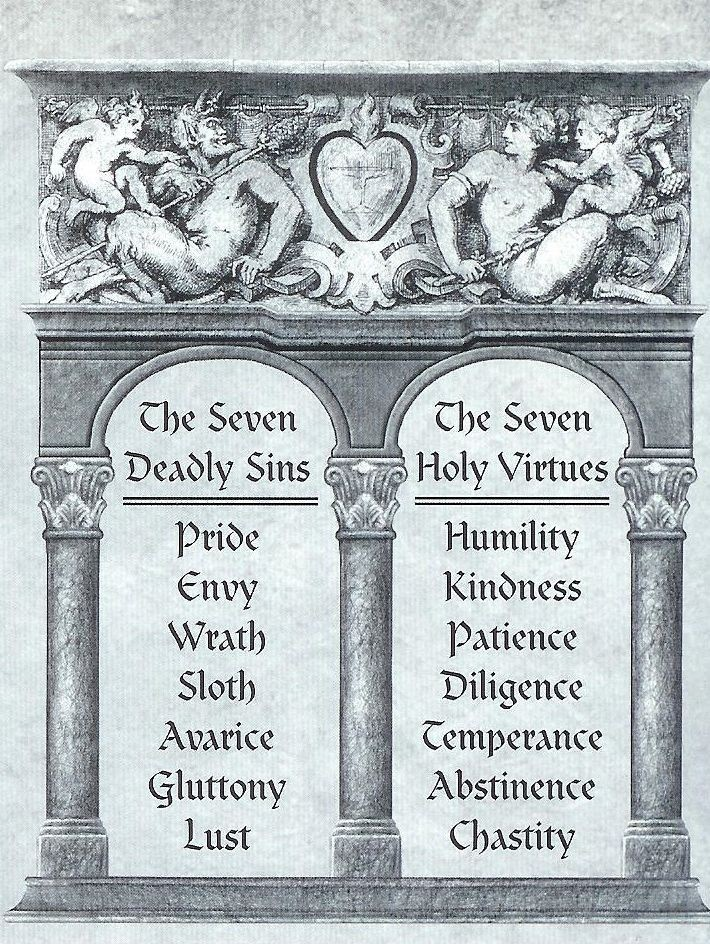 The Seven Deadly Sins // The Seven Holy Virtues