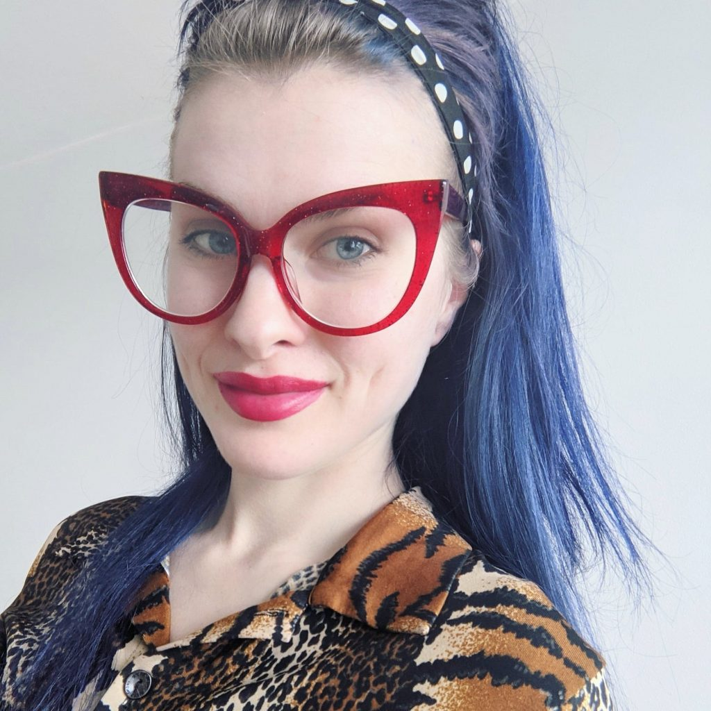 photo of me in red glasses